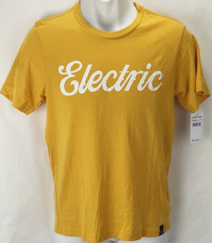 NEW Electric Cursive Gold Mens XL Snow Skate Cotton Tee Shirt Msrp$22