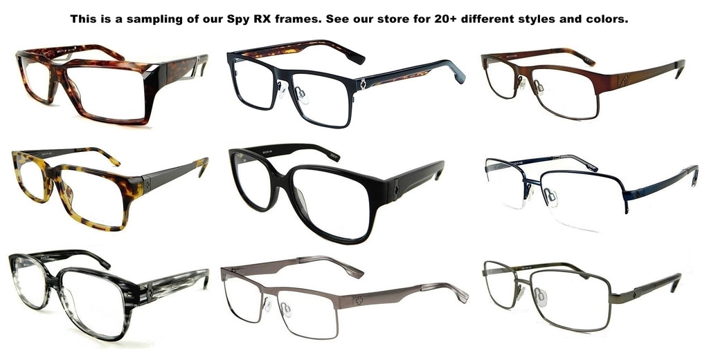 New Genuine Spy Rx Prescription Eyeglasses Frames Mens All ...