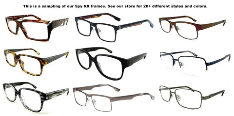 New Genuine Spy Rx Prescription Eyeglasses Frames Mens All Styles&Colors Ret$160