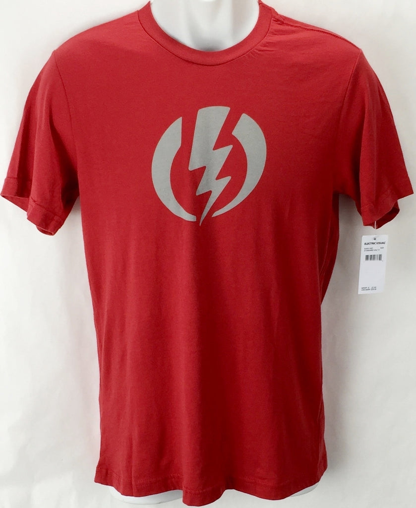 NEW Electric Standard Volt Red Mens Small Snow Skate Cotton Tee Shirt Msrp$22