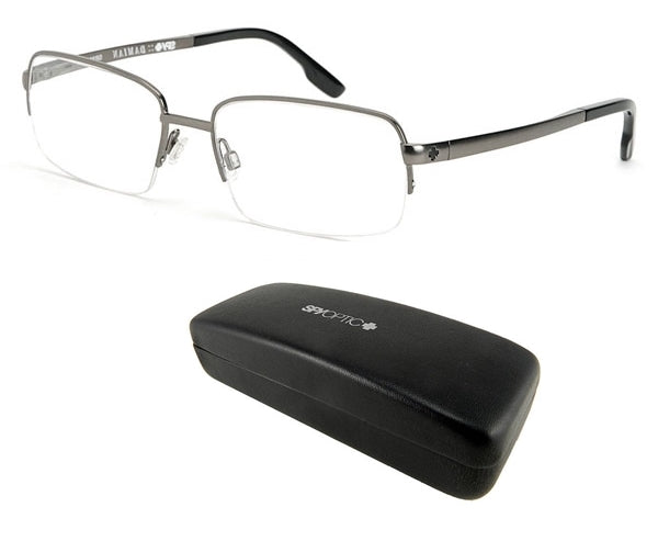 New Spy Optic Damian (54 17 135) Grey Mens Prescription Eyeglass Frames Msrp$160