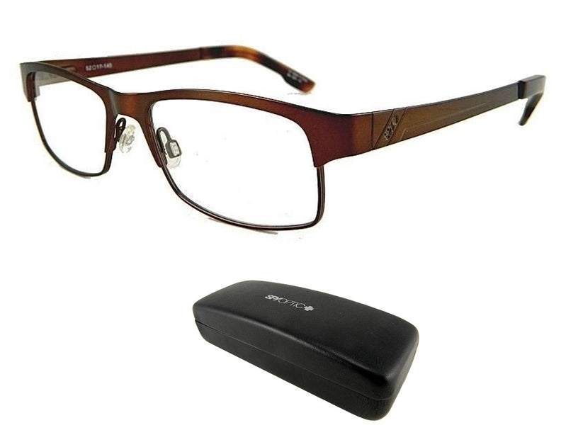 New Spy Optic Miles 52 17 145 Brown Mens Rx Prescription Eyeglass Frames Rt$160