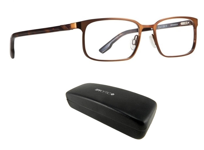 New Spy Optic Hayden (53 17 140) Brown Mens Prescription Eyeglass Frames Ret$160