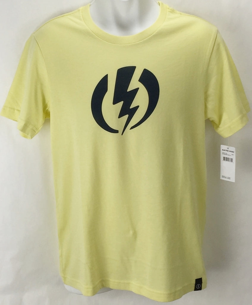 NEW Electric Standard Volt Yellow Mens Medium Snow Skate Cotton Tee Shirt Ret$22