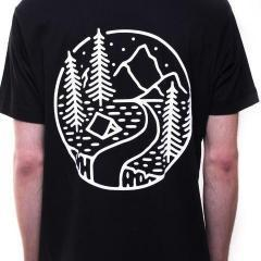 Into the wild black tee