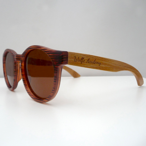 Wolfe Sunglasse- Festoon Tan Stripe