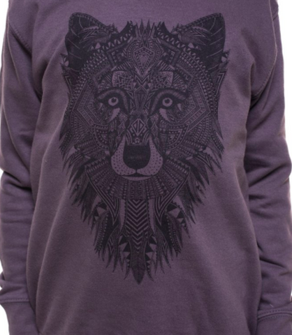 Kids sweatshirt Grey wolf
