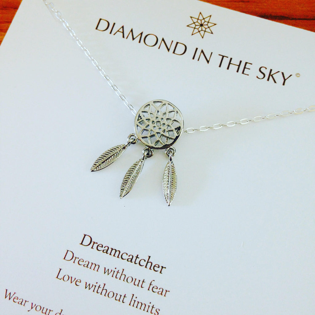 Diamonds in the Sky | Dreamcatcher Necklace