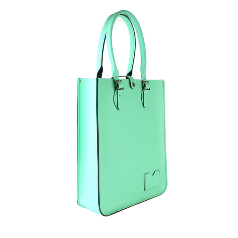 Large Tote Bag crafted from Fresh Mint Leather