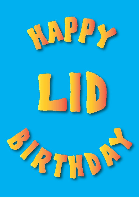 Happy Birthday Lid