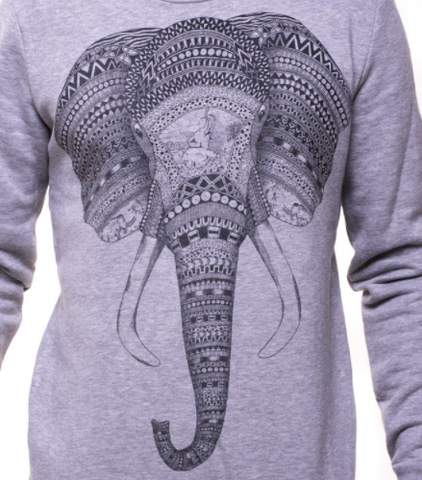 Grey Elephant Sweatshirt