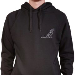 Simple wolf Charcoal hoodie