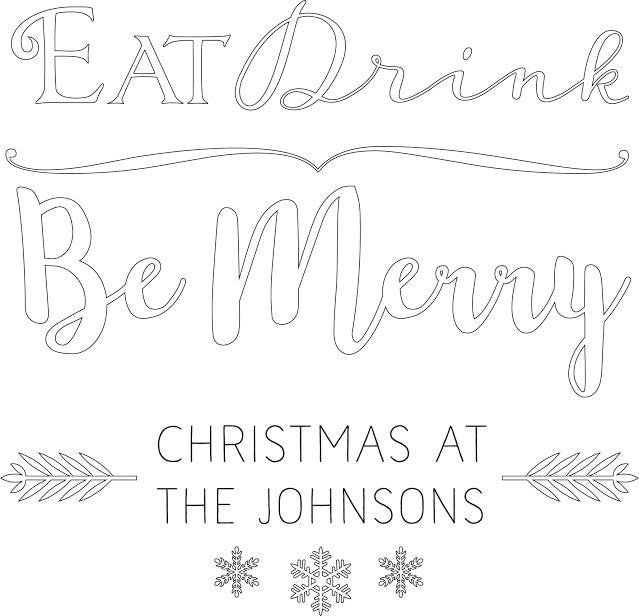 """Eat, Drink & Be Merry"" Design"