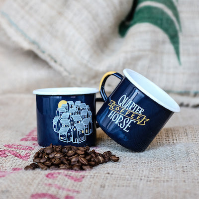 Set of 2 Enamel Mugs