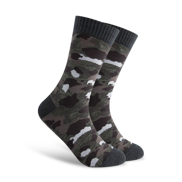Dark Gray Camo Men's Sock