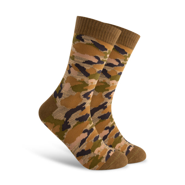 Olive Green Camo Men's Sock