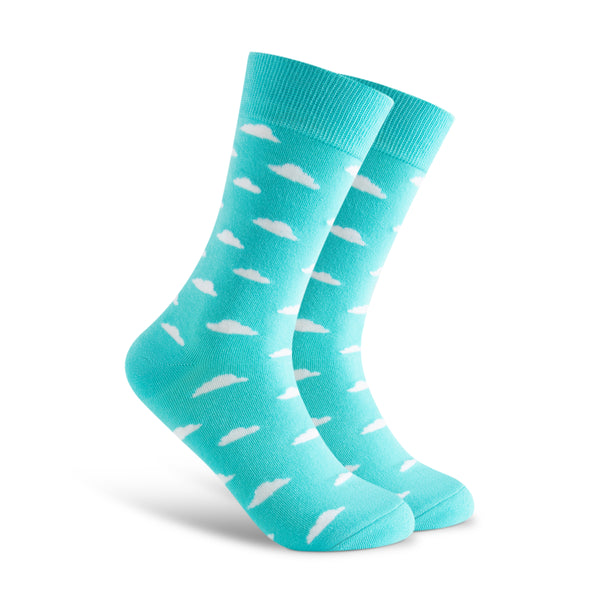Daydreamin Socks with Sky Pattern and Clouds. Cute and Funky socks for the office.