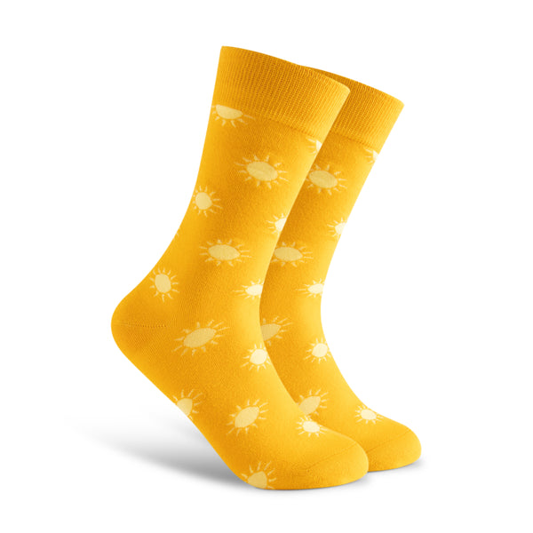 Sun Socks. Bright and Warm. Cute and Classy. Socks. Men. Office Socks. Cool Socks.
