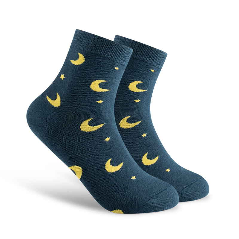 Women's Socks Collection with Lightning Bolts, Sun, Clouds and Moons. Sky Collection Perfect for the Office. Gift Idea. Very Cute Patterns.