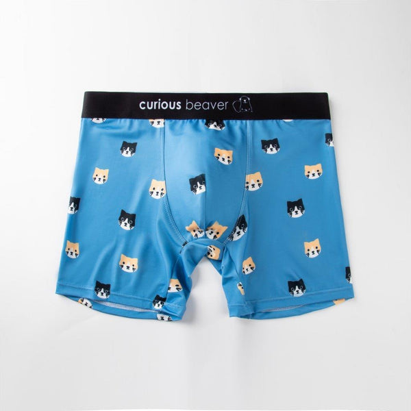 Neko Cat Men's Cute and Funky Underwear Boxer Design. Soft and Comfortable.