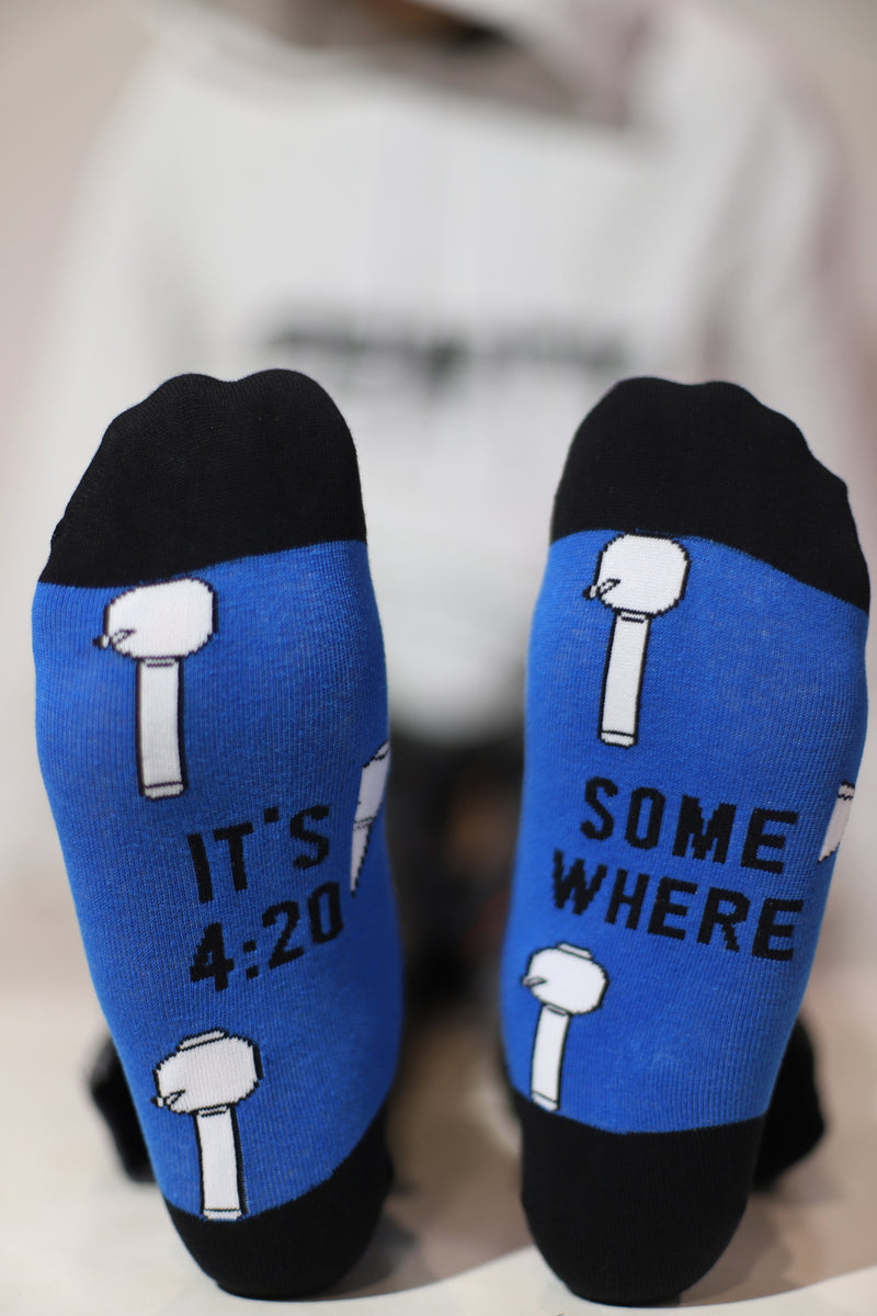 Kick the Bong Men's Sock