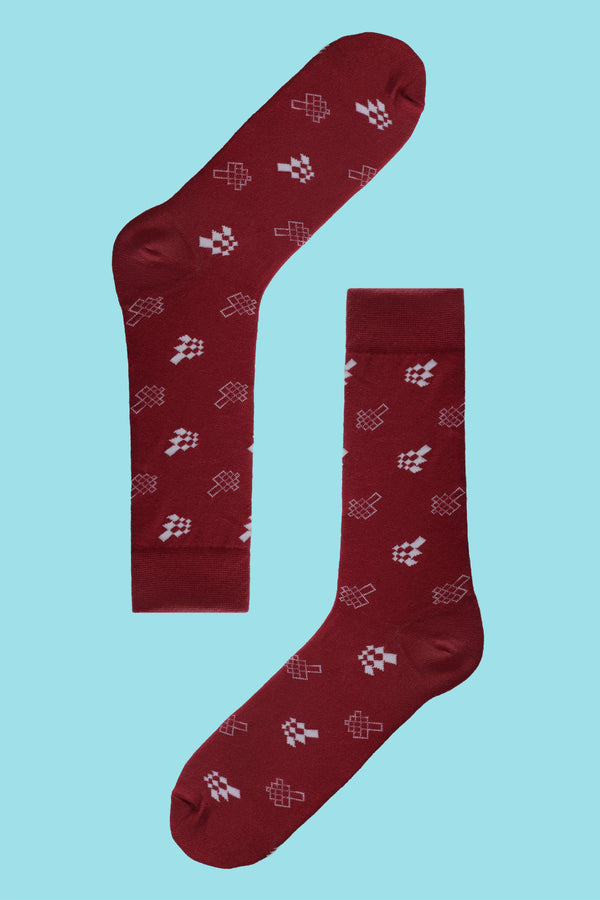 Jed North Logo Men's Sock - Red
