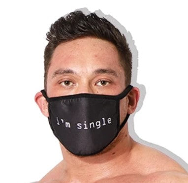 "Reusable ""I'm Single"" Black Face Cover"