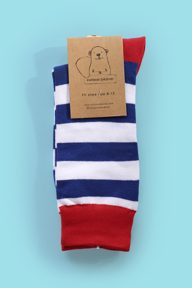 Hello Stripes Men's Sock