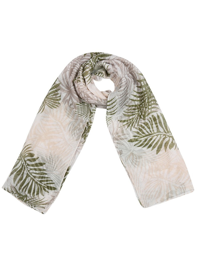 sjaals shawls met bladeren print leafs palmleaf tropical tropisch musthave it all musthaves