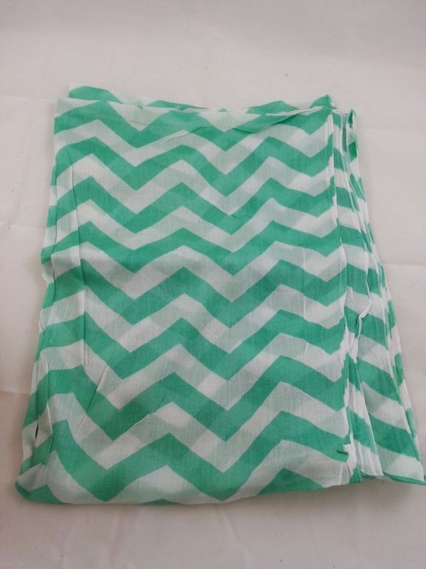 Chevron patterned infinity
