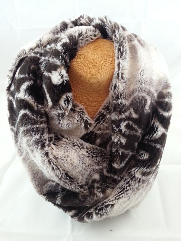 Plush animal print faux fur
