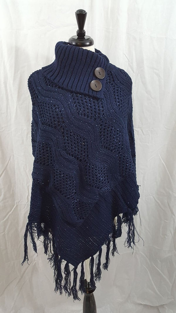 Sequined poncho
