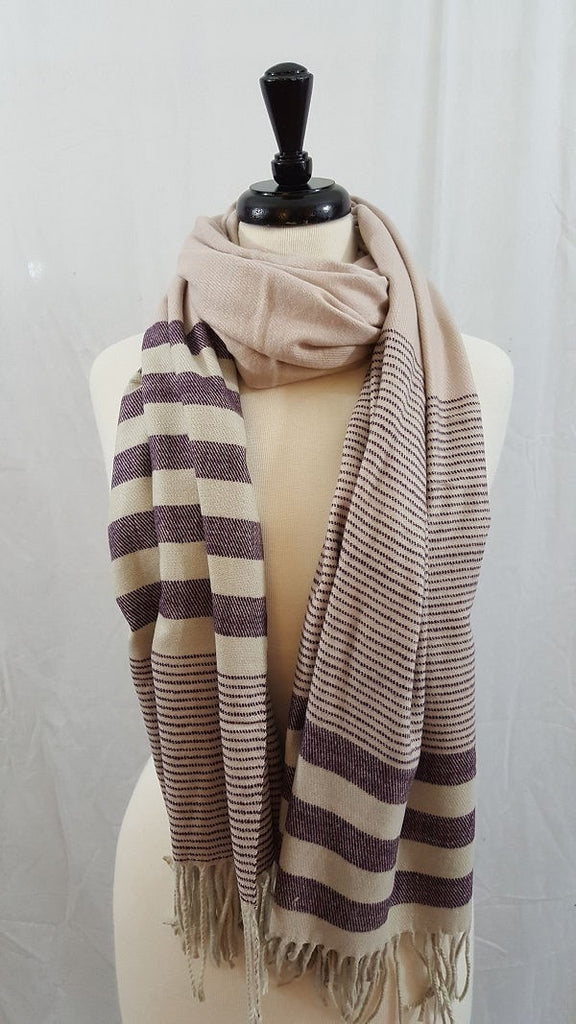 Cashmere feel wide scarf