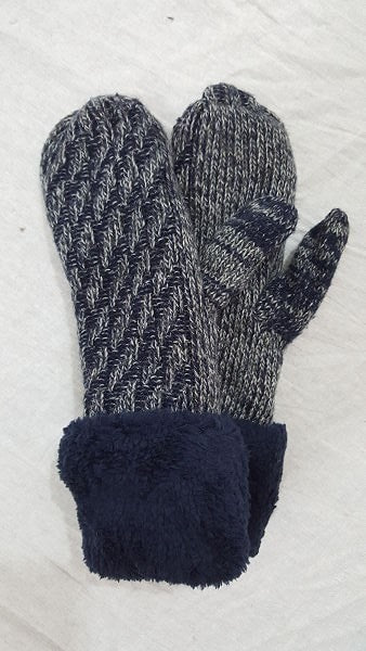 Heather cable mittens