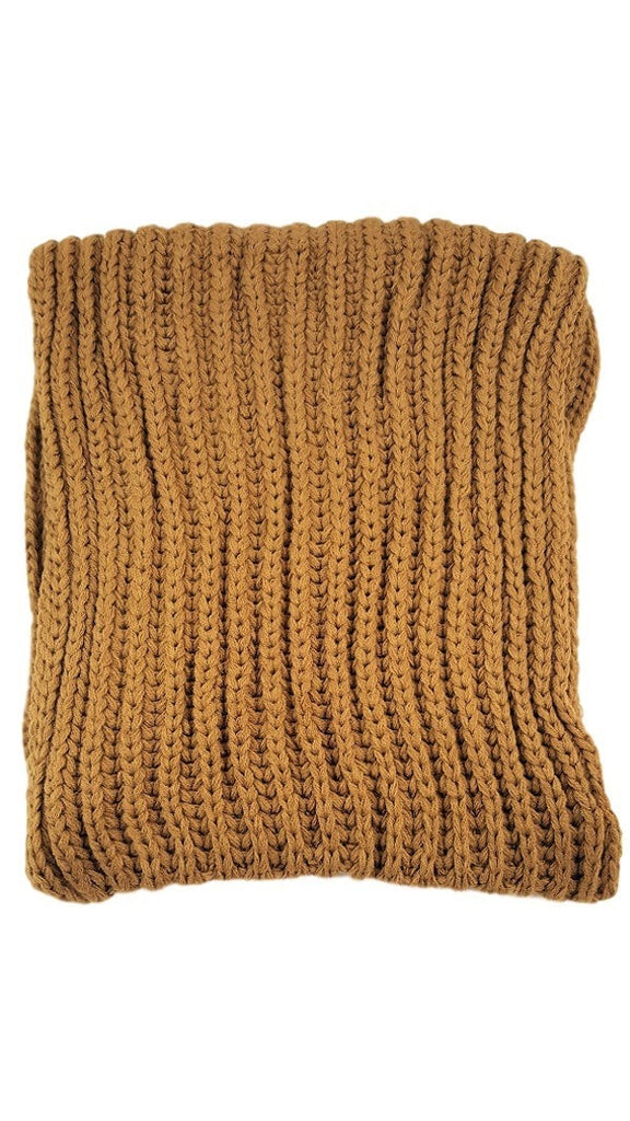 Ribbed knit infinity