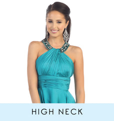 View High Neck or Halter bridesmaid dress collection