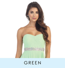 View green bridesmaid dresses which consist of mint green dresses, hunter green dresses, and emerald green dresses.