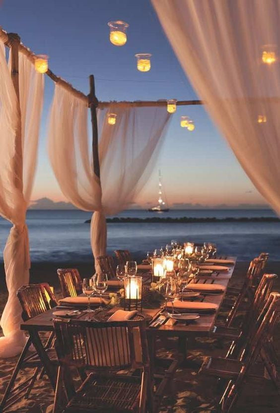 Sunset Destination Wedding with Canopy