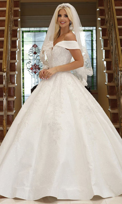 Dancing Queen - 158 Off Shoulder Beaded Wedding Dress In White