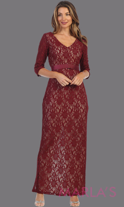 Maribel Long Lace Dress