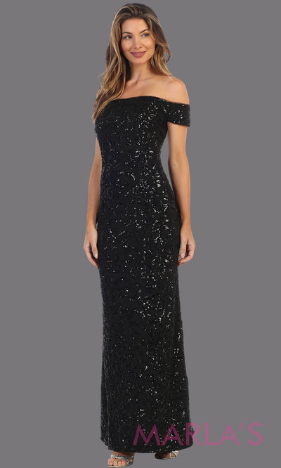 Long sequin beaded black fitted off shoulder formal dress. This beaded evening gown is perfect as a black prom dress, sequin wedding guest dress, formal beaded gown, indowestern party dress, engagement dress, gala. Plus sizes available