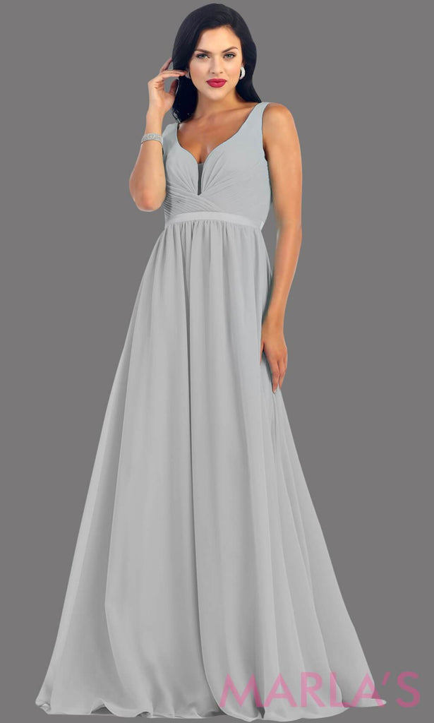 Long lilac dress with wide straps and v neck dress. This simple evening gown is perfect for a wedding guest dress, simple light purple prom dress, or even a bridesmaid dress. This dress is available in plus size