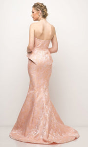 Cinderella Divine - 13312 Sweetheart Mermaid Gown In Coral & Orange