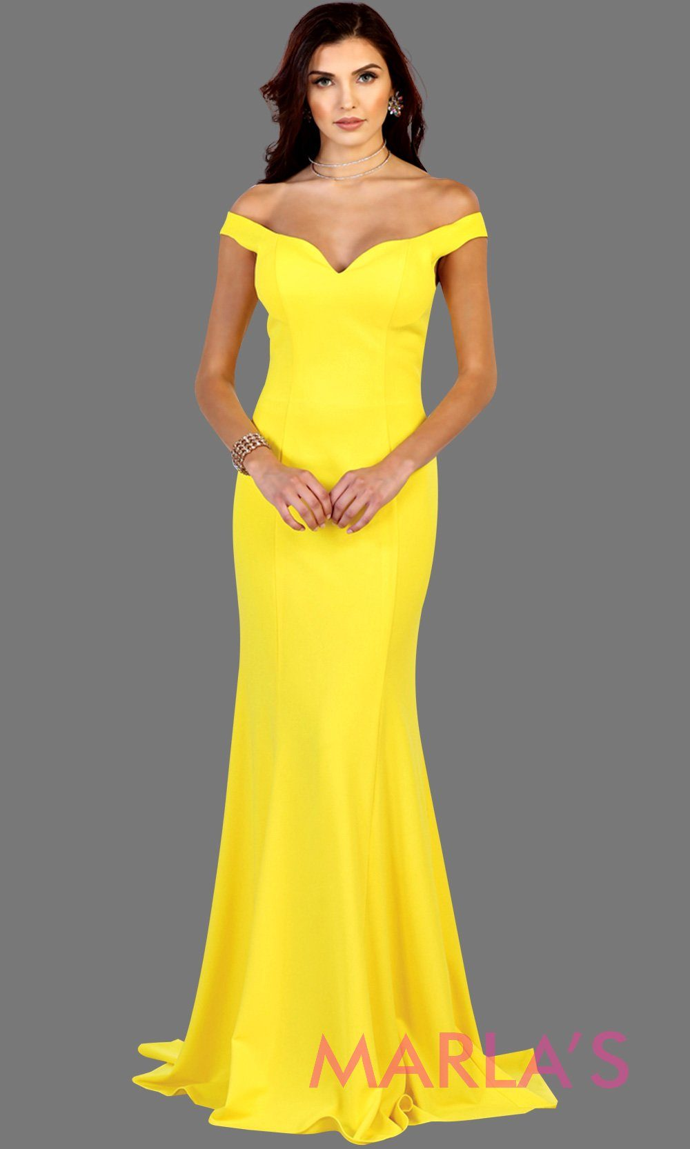Long fitted yellow mermaid dress with low v back and low front. Perfect for prom, fitted evening gown, gala, formal yellow wedding guest dress, western party dress, full length formal dress. Available in plus sizes.