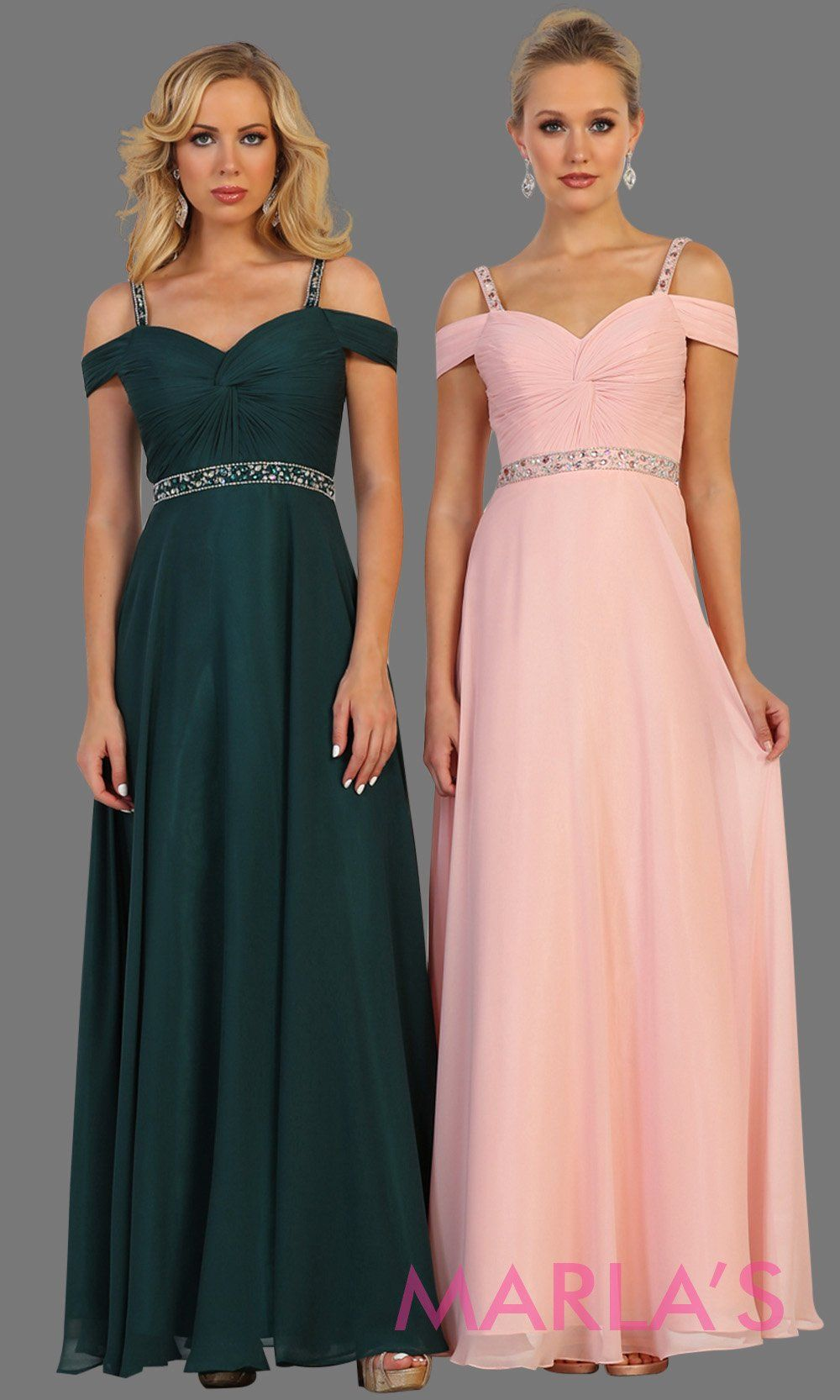 Long dark green flowy dress with cold shoulder and beaded waist. Perfect for prom, wedding guest dress, bridesmaid dress, formal party gown, eveing party dress. This green off shoulder is available in plus size.