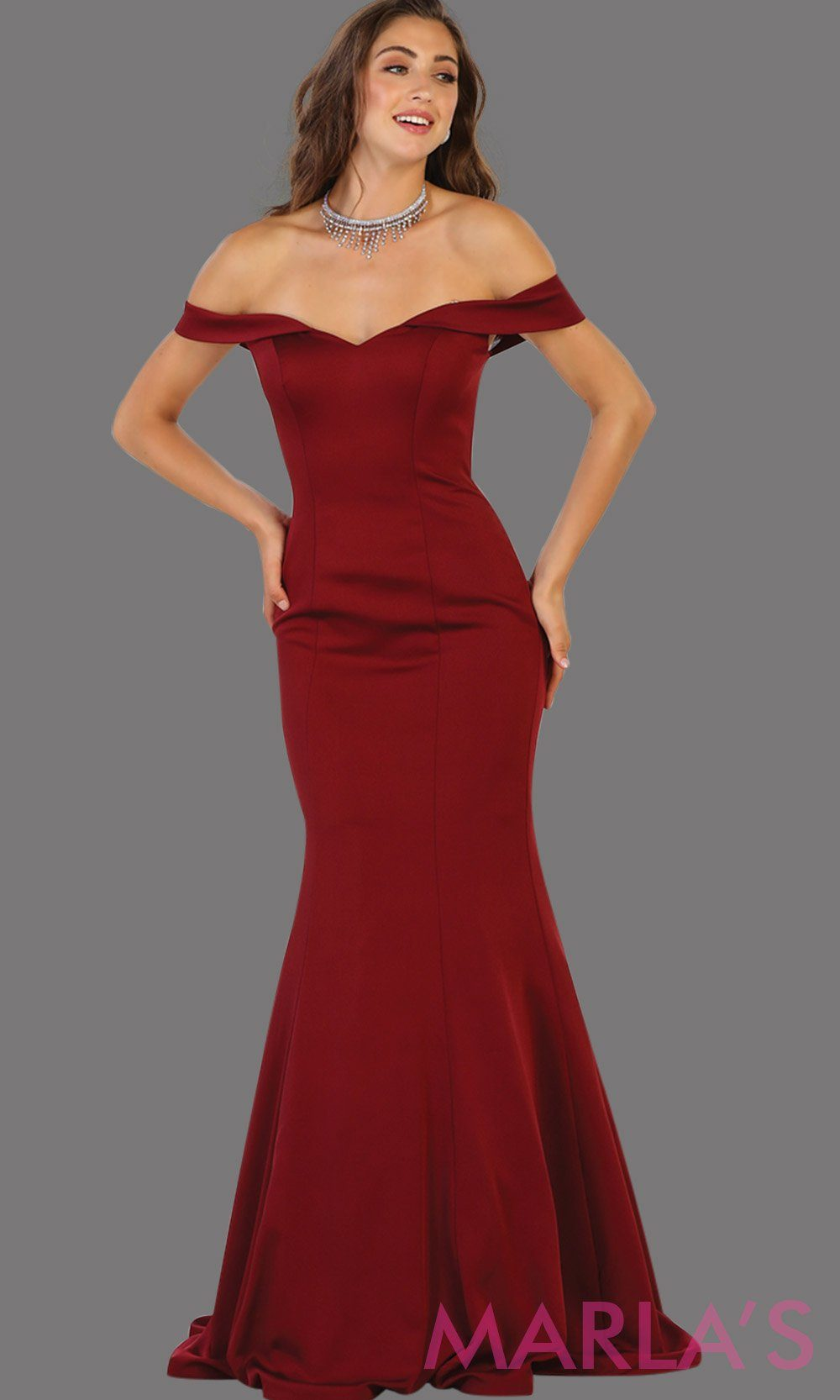 Long off shoulder dark red  fitted mermaid dress. This sleek and sexy burgundy dress is perfect for bridesmaid dress, formal wedding party, wedding guest dress, gala, charity event dress. Available in plus size