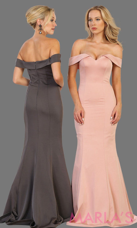 Long off shoulder dusty rose  fitted mermaid dress. This sleek and sexy pink dress is perfect for bridesmaid dress, formal wedding party, wedding guest dress, gala, charity event dress. Available in plus size