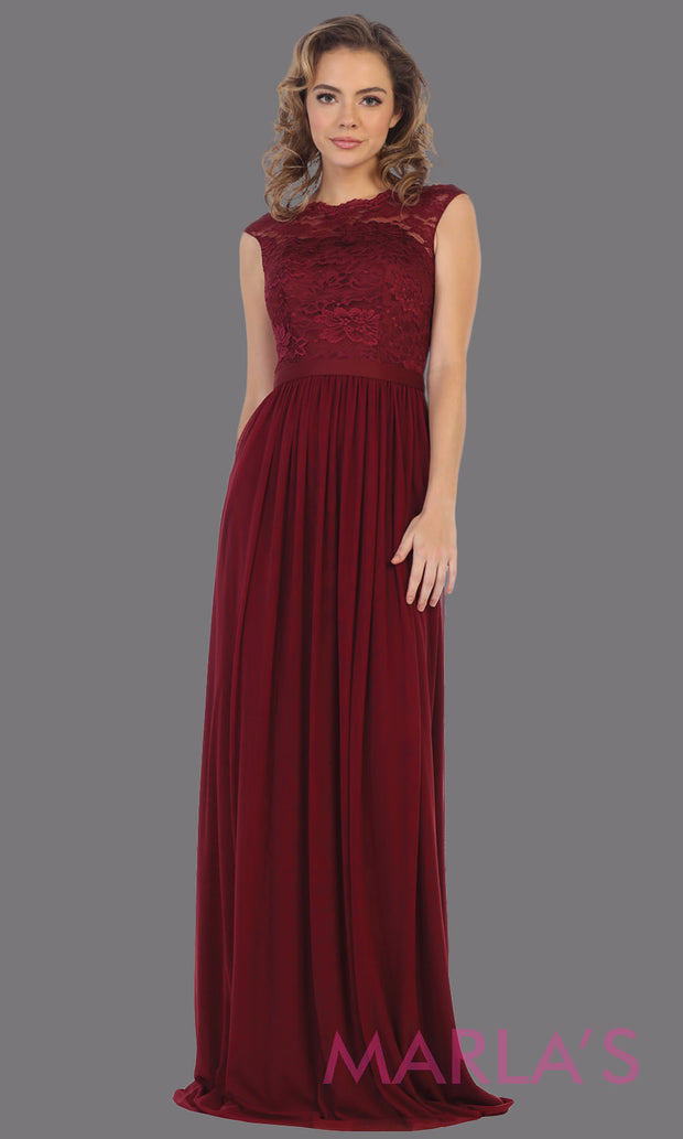 Long flowy burgundy red dress with off shoulder lace top.This simple gown is perfect for bridesmaid dresses,plus size women,simple evening gown, gala dress,mother of the bride dress, indowestern gown,destination wedding