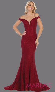 Long off shoulder burgundy tight fitted lace evening gown.Sleek and sexy mermaid dress is perfect for bridesmaids,sexy long party dress, sexy wedding guest dress, mermaid plus size gown, dark red lace indowestern gown