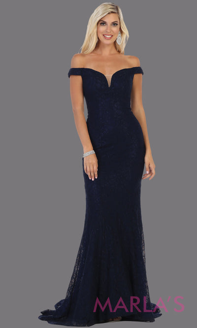 Long off shoulder navy blue tight fitted lace evening gown.Sleek and sexy mermaid dress is perfect for bridesmaids,sexy long party dress, sexy wedding guest dress, mermaid plus size gown, dark blue lace indowestern gown